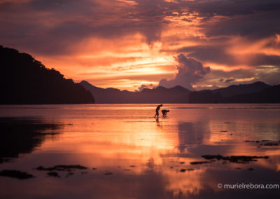 Amazing sunset in El Nido, Philippines